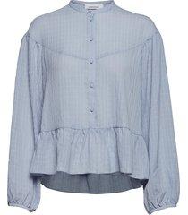 rhonda blouse 11156 blouse lange mouwen blauw samsøe & samsøe