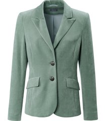 nicky-blazer met reverskraag van basler groen