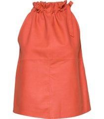 13634 knälång kjol orange depeche