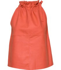13634 t-shirts & tops sleeveless orange depeche