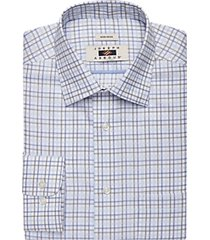 joseph abboud olive grid dress shirt