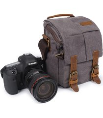 tela di canapa con il sacchetto traspirante della borsa della macchina fotografica di viaggio casuale di cuoio impermeabile per gli uomini
