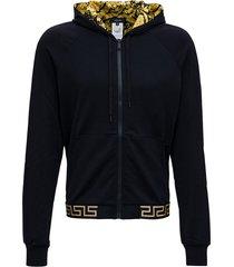 versace active greca hoodie in technical jersey
