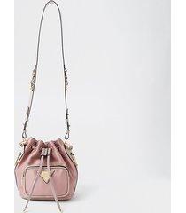 river island womens pink satin medium duffle bag