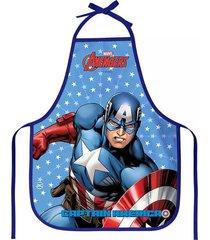 avental escolar dac decorado avengers capitão américa