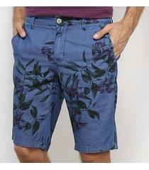 bermuda slim forum floral estonada masculina