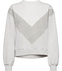 anf womens sweatshirts sweat-shirt tröja grå abercrombie & fitch