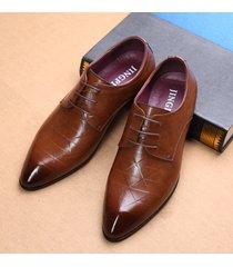 scarpe stringate formali in cuoio