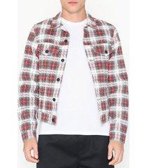 cheap monday legit jacket relax check jackor röd/vit