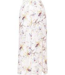 jason wu collection wild orchid silk satin jacquard skirt - white
