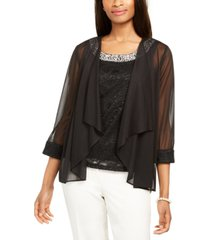 r & m richards glitter lace top & jacket