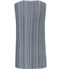 mouwloze trui met ronde hals van anna aura blauw