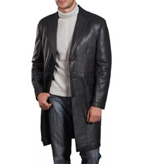 men leather coat winter long  leather coat genuine real leather trench coat-uk45