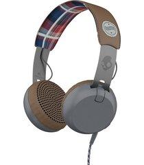 audífonos skullcandy grind - americana con tela escocesa y gris