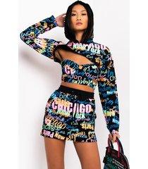 akira city girl cropped hoodie