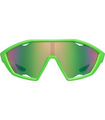 prada eyewear linea rossa active sunglasses - green
