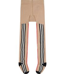 burberry beige tights for girl
