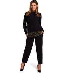 blouse style s195 gelaagde pullover top - ecru