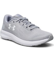ua w charged pursuit 2 shoes sport shoes running shoes grå under armour