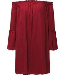 zanzea noche de las mujeres de dess manga de la colmena del hombro tops t blusa de la camisa de vestir vino tinto -rojo