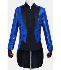 giacca da uomo con paillettes magia show blazer