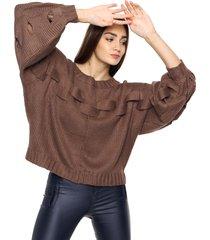 sweater chocolate laila april