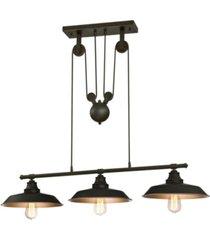 westinghouse lighting iron hill three-light indoor island pulley pendant