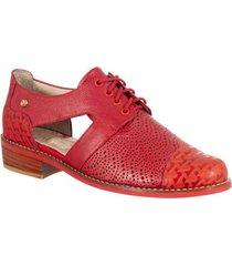 zapato casual para mujer san polos at-2114 rojo