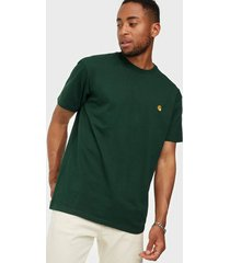 carhartt wip s/s chase t-shirt t-shirts & linnen green