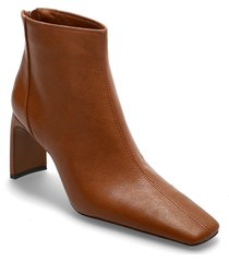 sas shoes boots ankle boots ankle boot - heel brun mango