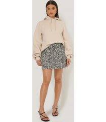 na-kd leopard print mini skirt - multicolor