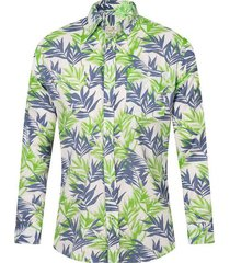 camisa de lino slim fit para hombre 93514