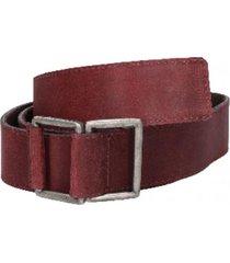 cinturón cuero liso sin perforaciones burdeo panama jack