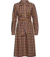 aciegz dress ma19 knälång klänning brun gestuz