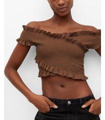 mango women's cotton wrapped top