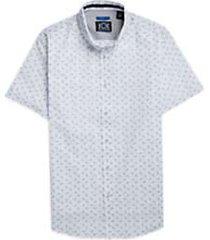 joe joseph abboud repreve® white & blue paisley short sleeve sport shirt