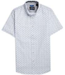 joe joseph abboud repreve® white & blue paisley short sleeve sport shirt
