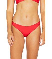 women's hurley surf bikini bottoms, size xx-large - red