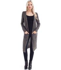 new elegant front pockets long open 100% acrylic cardigan sizes s m l xl