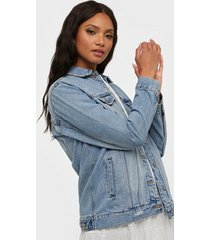 dr denim river trucker jacket jeansjackor