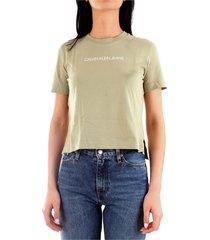 calvin klein j20j212879 t-shirt women green