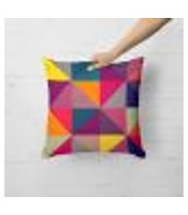 capa de almofada avulsa decorativa geométricos multicolors 45x45cm