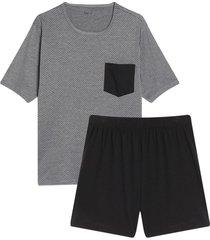 pijama para hombre camiseta-short color azul, talla l