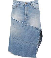 balenciaga 5 pockets slit skirt