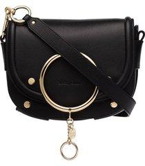 see by chloé small ring crossbody bag - black