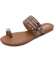 sandalias zapatillas planas de playa para mujer