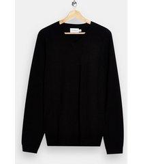 mens black v neck knitted sweater