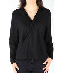 overhemd wrangler l/s wrap shirt black w5180bd01