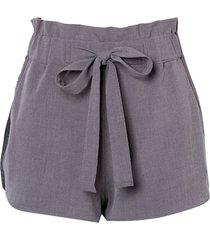 shorts john john logo cinza mescla feminino (cinza, gg)