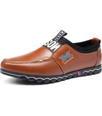 scarpe da guida casual morbide antiscivolo in vera pelle da uomo